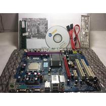 Placa Mãe 775 Ddr2 - G31t-m7- Mega C/acessorios + Brindes