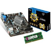 Kit Msi Mini Itx J1900i + Processador Intel Quad Core + 4gb