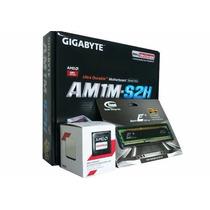 Kit Amd Gigabyte Am1 Ms2h Sempron 2650 Dual Memória 2gb Ddr3