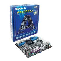Kit Placa Mãe Asrock Intel + Proc Atom 1.80ghz Ddr3 Mini-itx