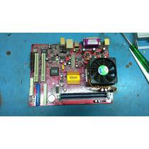 Placa Mãe Pcchips M810d + Processador + 512mb Memória