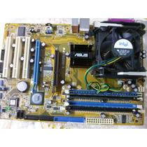 Placa Mãe Asus 478 Modelo P4v800d-x Com Processador E Memor