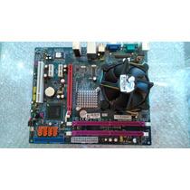 Placa Mae Pci Expless 775 Dd2 +processador+cooler