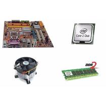 Kit Intel Lga 775 Core 2 Duo Placa Mãe Cooler 3gb Memoria