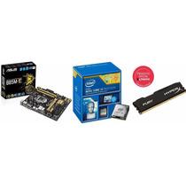 Kit Asus B85m-e/br + Intel I3-4170 3.7 + Hyperx 8gb 1600mhz