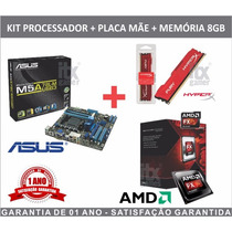 Kit Gamer Asus M5a78l-m Usb3 + Amd Fx-6300 + 8gb Gamer