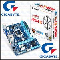 Placa Mãe Intel H61 Express Lga1155 Ga-h61m-s1 Gigabyte Nfe