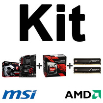 Kit Msi A88x-g45 Gaming + A10-7870k + Mem. 8gb 2400mhz