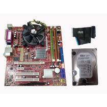 Kit Completo: Placa Mãe, Dual Core, Memória 2gb, Hd 250gb