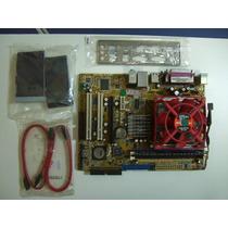Placa Mae Asus K8v-vm+proc.semprom+cooler+512mbddr400+cabos