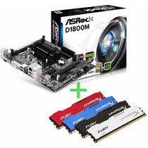 Kit Asrock D1800m Celeron Dual Core 2.58ghz+ 4gb 1600 Hyperx