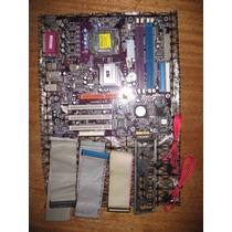 Placa-mãe 775 Ecs P4m800pro-m V2.0 V/s/r Agp Espelho E Cabos