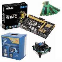 Kit Asus H81m-c + Intel® I5 4440 Core 4º Ger. + Mem 8gb Ddr3