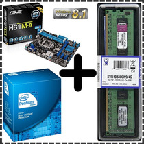 Kit Asus Dual Core - Placa Mãe + Intel 3.0ghz + 4gb Kingston