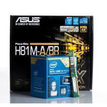 Kit Placa Mãe Asus + Cpu Core I5 4460 3.2 Ghz + Memoria 8gb