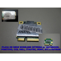 Placa De Rede Wireless Interna P/ Notebook: Cce E Megaware