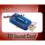 Placa De Audio 5.1 E Microfone Usb Adaptador Som 3d