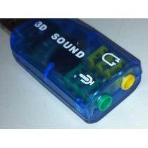 Placa Som 3d E Microfone 5.1 Usb 2.0