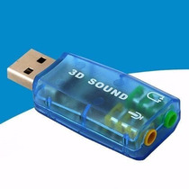 Placa De Som Usb 5.1 Canais Notebook Pc 3d Adaptador Audio