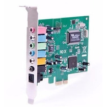 Placa De Som Pci-express 7.1 Canais/spdif Chip Via 24 Bit