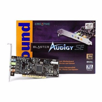 Placa De Som Creative Pci Sound Blaster Audigy Se 7.1 Sb0570