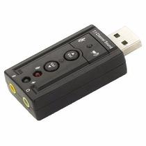 Placa De Som Usb 7.1 Canais Notebook Pc 3d Adaptador Audio