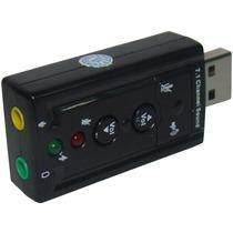 Placa De Som Usb 7.1 Canais 3d Adaptador Audio Frete Gratis