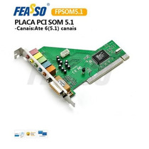 Placa Pci Fpsom 5.1 Placa De Som Interna - Surround