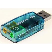 Placa De Som Usb 3d Sound 7.1 Vitual + Plug & Play.