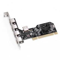 Placa Pci Usb 2.0 5 Portas Via Chipsets 480mbps Frete Gratis