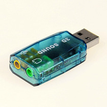 Placa De Som Usb 5.1 3d Adaptador Canais Audio Pc Notebook