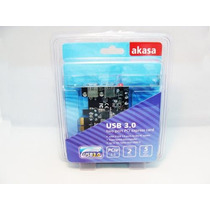 Placa Pci-e Express Usb 3.0 2 Saidas Pc Gamer Akasa