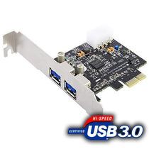 Placa Pci-e Usb 3.0 - 5gb/s 2 Portas Box Hb-t75