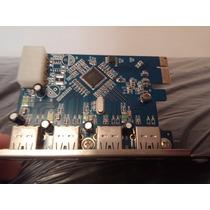 Placa Usb 3.0 - 5gb/s Pci-e 1x 4 Portas