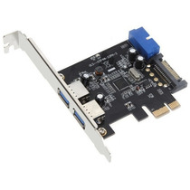 Placa Pci-e 2 Portas Usb 3.0 5gb/s Usb3 Sata Pci Express 1x