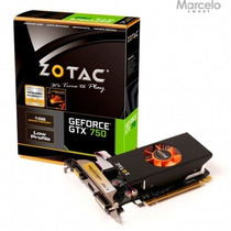 Placa De Vídeo 1gb Zotac Geforce Gtx750 128 Bits Original