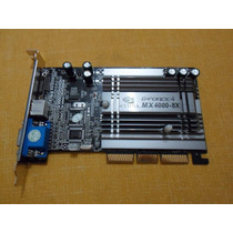 Placa De Video Agp Geforce G4 Mx4000 64mb Ddr Nova Sem Caixa