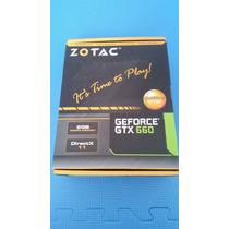 Placa De Vídeo Vga Zotac Geforce Gtx660 2gb Ddr5