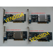 Placas Agp 64 Mb Tv-out Funcionando Perfeitamente