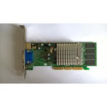 #047 Placa De Video Agp Geforce G4 Mx4000 64mb