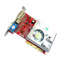 Placa De Video Agp Nvidia Fx5500 256 Mb