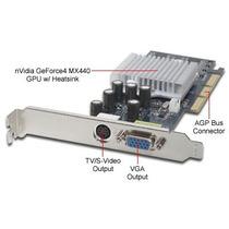 Placa De Video Agp Geforce 4 Mx4000 64mb