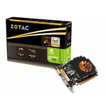 Placa De Vídeo Zotac Geforce Gt730 2gb Ddr3 128bits Pci-e2.0