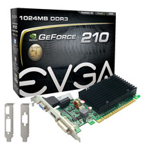 Placavídeo Evga Geforce Gt 210 1gb Ddr3 64bits Mania Virtual