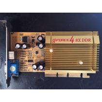 Placa De Vídeo Nvidia Geforce4 8x Ddr 64mb Aceito Trocas