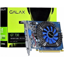 Placa De Video Nvidia Geforce Gt 730 2gb Ddr3 128 Bits Galax
