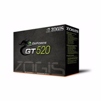Placa De Vídeo Zogis Geforce Gt520 1024mb 1gb Ddr3 Oferta!!!