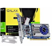 Placa De Vídeo Geforce Nvidia Gt 610 1gb Ddr3 Hdmi Dvi Vga