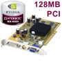 Placa De Vídeo Pci Geforce 4 Mx4000 128mb Ddr