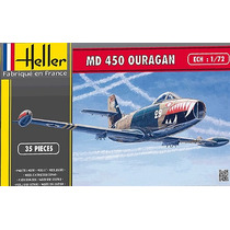 Avião Md450 Ouragan Heller 1/72 Kit Tipo Revell E Tamiya